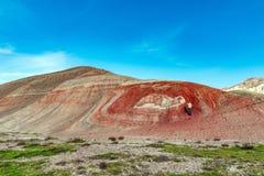 Κόκκινα βουνά στοκ εικόνα