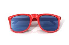 Κόκκινα γυαλιά ήλιων Στοκ Εικόνες