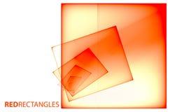 Κόκκινα διαφανή τετράγωνα στο άσπρο υπόβαθρο ελεύθερη απεικόνιση δικαιώματος