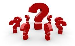 Κόκκινα ερωτηματικά στοκ φωτογραφία με δικαίωμα ελεύθερης χρήσης