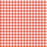 Κόκκινα ελεγμένα σχέδια τραπεζομάντιλων Στοκ Εικόνες