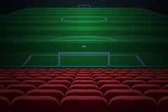κόκκινα καθίσματα σειρών ελεύθερη απεικόνιση δικαιώματος