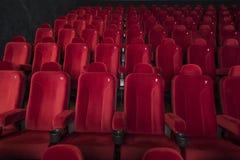 Κόκκινα καθίσματα στον κινηματογράφο Στοκ Εικόνα
