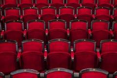 Κόκκινα καθίσματα στον κινηματογράφο Στοκ Εικόνες