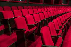 κόκκινα καθίσματα Στοκ εικόνες με δικαίωμα ελεύθερης χρήσης