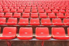 κόκκινα καθίσματα στοκ φωτογραφία