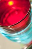 Κόκκινα και μπλε γυαλιά Στοκ Εικόνες