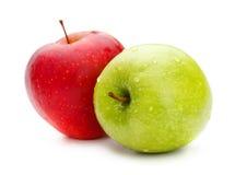 Κόκκινα και πράσινα μήλα Στοκ φωτογραφίες με δικαίωμα ελεύθερης χρήσης