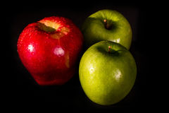 Κόκκινα και πράσινα μήλα Στοκ Φωτογραφίες