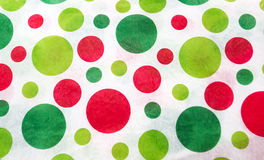 Κόκκινα και πράσινα σημεία Πόλκα στοκ φωτογραφία με δικαίωμα ελεύθερης χρήσης