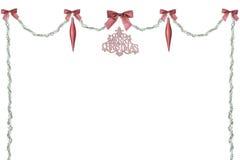 Κόκκινα και πράσινα Χριστούγεννα Swag Στοκ φωτογραφίες με δικαίωμα ελεύθερης χρήσης