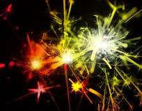 Κόκκινα και χρυσά sparklers Στοκ Εικόνες