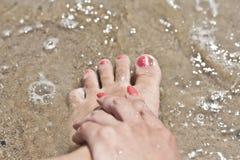 Κόκκινα καρφιά με την επίδραση άμμου Στοκ φωτογραφίες με δικαίωμα ελεύθερης χρήσης