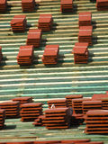 κόκκινα κεραμίδια στεγών Στοκ Εικόνα