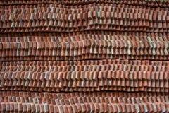 κόκκινα κεραμίδια στεγών Στοκ Φωτογραφία