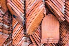 κόκκινα κεραμίδια στεγών Στοκ εικόνα με δικαίωμα ελεύθερης χρήσης