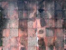 Κόκκινα κεραμίδια τοίχων αργίλου τετραγωνικά Στοκ Εικόνα