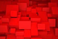 Κόκκινα κιβώτια Στοκ Φωτογραφία