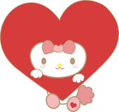 Κόκκινα κινούμενα σχέδια καρδιών Στοκ φωτογραφίες με δικαίωμα ελεύθερης χρήσης
