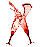 Κόκκινα κοκτέιλ με τον παφλασμό Στοκ φωτογραφία με δικαίωμα ελεύθερης χρήσης