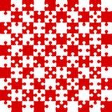 Κόκκινα κομμάτια γρίφων - διάνυσμα τορνευτικών πριονιών - σκάκι τομέων Στοκ φωτογραφία με δικαίωμα ελεύθερης χρήσης