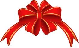 Κόκκινα κορδέλλα και τόξο Στοκ Εικόνα