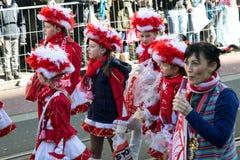Κόκκινα κοστούμια παιδιών καρναβαλιού Στοκ φωτογραφία με δικαίωμα ελεύθερης χρήσης