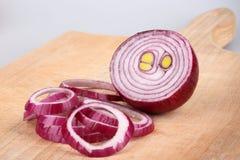 Κόκκινα κρεμμύδια Στοκ Φωτογραφίες