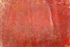 Κόκκινα κύματα 1 εγγράφου Ebru Στοκ εικόνα με δικαίωμα ελεύθερης χρήσης