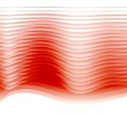 κόκκινα κύματα διανυσματική απεικόνιση