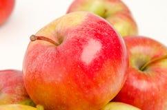 Κόκκινα μήλα στο άσπρο υπόβαθρο που απομονώνεται Στοκ Εικόνες