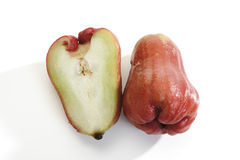 Κόκκινα μήλα της Ιάβας (Syzygium samarangense ή javanica της Eugenia), κινηματογράφηση σε πρώτο πλάνο Στοκ Εικόνες