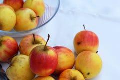 Κόκκινα μήλα φρέσκα στο άσπρο υπόβαθρο Στοκ φωτογραφίες με δικαίωμα ελεύθερης χρήσης