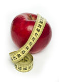 Κόκκινα μήλο και εκατοστόμετρο Στοκ Φωτογραφία