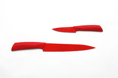 Κόκκινα μαχαίρια Στοκ εικόνες με δικαίωμα ελεύθερης χρήσης