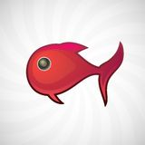 Κόκκινα μικρά ψάρια, απομονωμένη απεικόνιση Στοκ Εικόνες