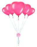 Κόκκινα μπαλόνια καρδιών Στοκ Φωτογραφία