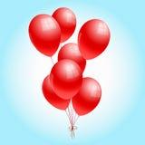 Κόκκινα μπαλόνια Στοκ Εικόνες