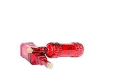 Κόκκινα μπουκάλια Στοκ φωτογραφίες με δικαίωμα ελεύθερης χρήσης