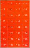 Κόκκινα ντουλάπια ασφάλειας στοκ φωτογραφία με δικαίωμα ελεύθερης χρήσης