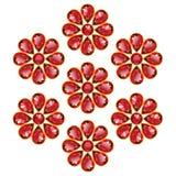 Κόκκινα λουλούδια απομονωμένων των ρουμπίνια αντικειμένων διανυσματική απεικόνιση