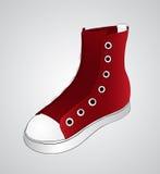 κόκκινα πάνινα παπούτσια Στοκ Φωτογραφίες