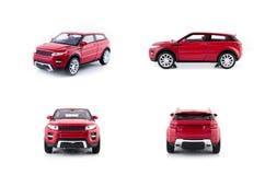 Κόκκινα παιχνίδια αυτοκινήτων καθορισμένα Στοκ εικόνες με δικαίωμα ελεύθερης χρήσης
