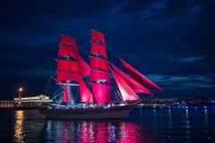 κόκκινα πανιά Στοκ Εικόνα
