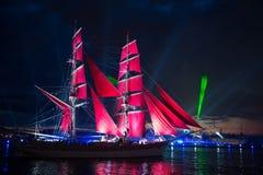 κόκκινα πανιά Στοκ φωτογραφία με δικαίωμα ελεύθερης χρήσης