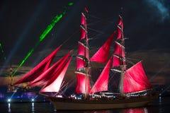 κόκκινα πανιά Στοκ Φωτογραφία
