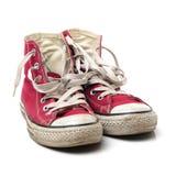 Κόκκινα παπούτσια γυμναστικής Στοκ Εικόνες