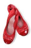 Κόκκινα παπούτσια γυναικών στοκ φωτογραφίες