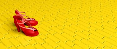 Κόκκινα παπούτσια μαγικά ελεύθερη απεικόνιση δικαιώματος