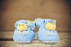 κόκκινα παπούτσια μωρών Στοκ Εικόνα